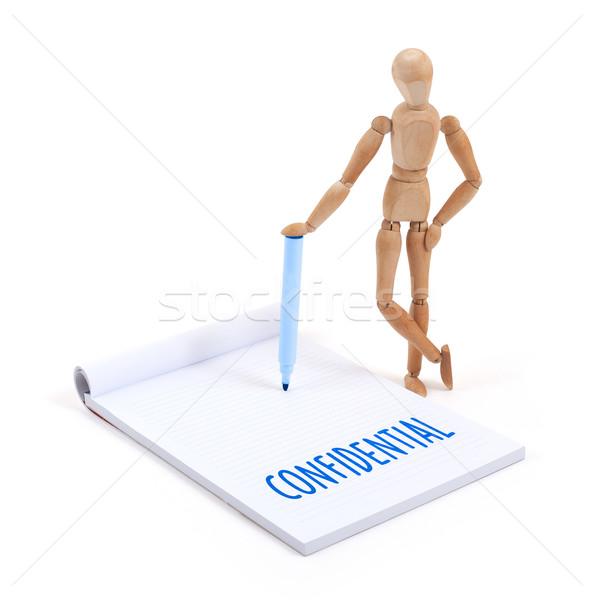 Maniquí escrito confidencial álbum de recortes negocios Foto stock © michaklootwijk