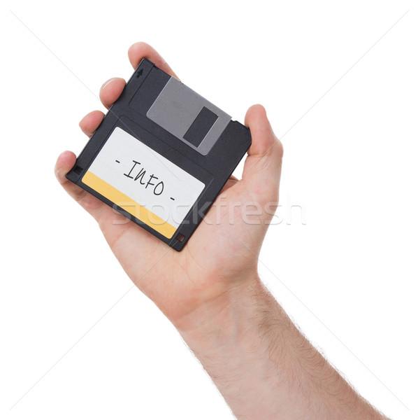 Stockfoto: Schijf · verleden · geïsoleerd · witte · technologie · gegevens