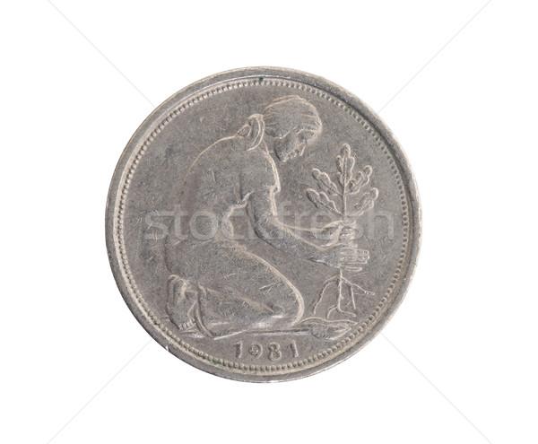 50 german mark pfennig coin isolated Stock photo © michaklootwijk