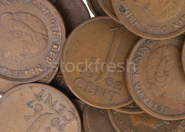 Old dutch cent coins, isolated, selective focus Stock photo © michaklootwijk