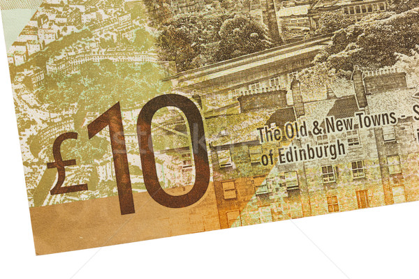Scottish Banknote, 10 pounds Stock photo © michaklootwijk