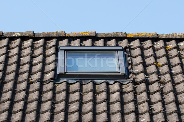 Dormer on a black tiled roof Stock photo © michaklootwijk