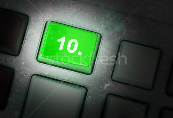 Knop vuile oude paneel selectieve aandacht internet Stockfoto © michaklootwijk