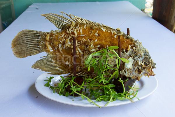 Elefante ouvido peixe grelhado pronto comer Foto stock © michaklootwijk