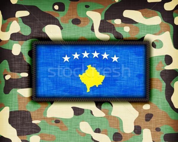 Uniforme Kosovo bandeira textura abstrato Foto stock © michaklootwijk
