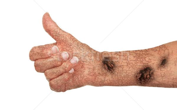 старые руки трещин ржавчины знак Сток-фото © michaklootwijk