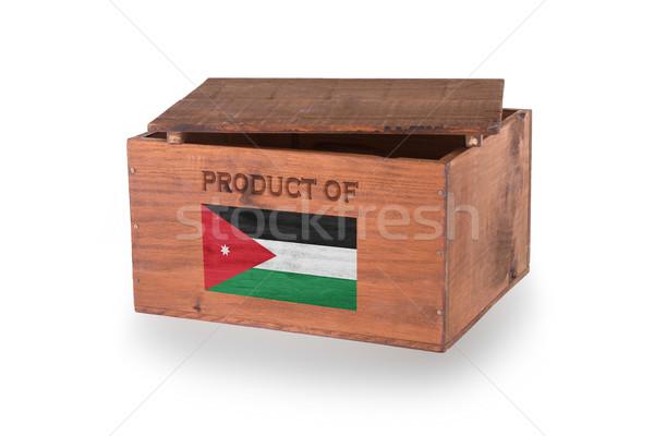 Stock fotó: Fából · készült · láda · izolált · fehér · termék · Jordánia