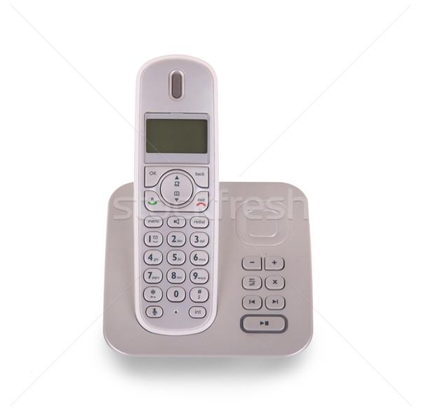 Household cordless telephone isolated Stock photo © michaklootwijk
