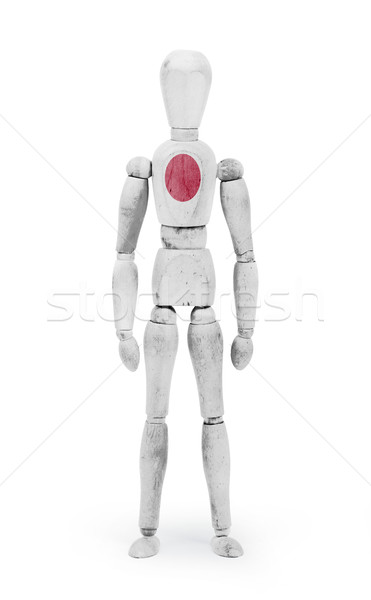 Wood figure mannequin with flag bodypaint - Japan Stock photo © michaklootwijk