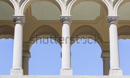 Arches in an old building Stock photo © michaklootwijk