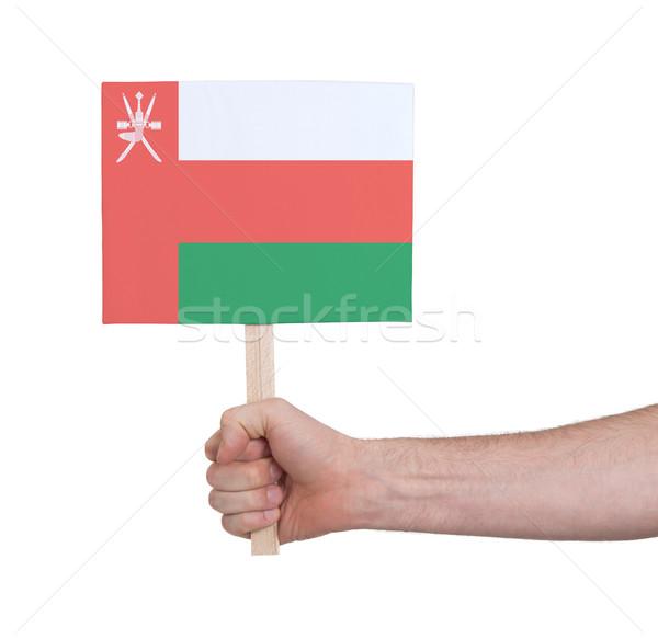 El küçük kart bayrak Umman Stok fotoğraf © michaklootwijk