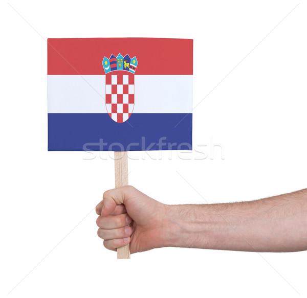 Mano piccolo carta bandiera Croazia Foto d'archivio © michaklootwijk