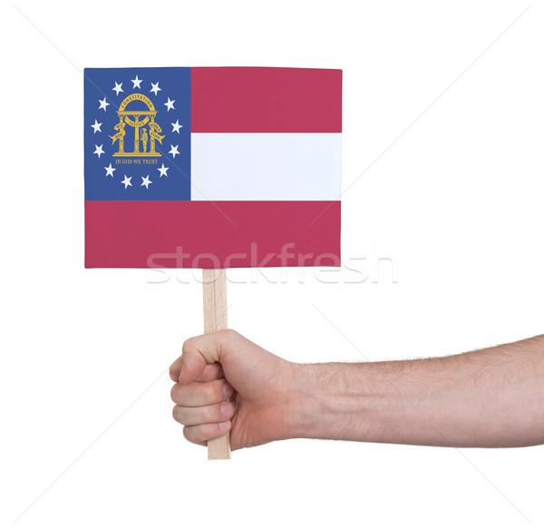 Mano piccolo carta bandiera Georgia Foto d'archivio © michaklootwijk
