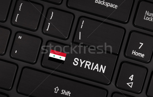 Enter button with flag Syria - Concept of language Stock photo © michaklootwijk