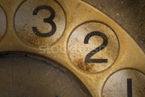 Close up of Vintage phone dial - 2 Stock photo © michaklootwijk