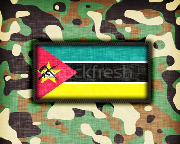равномерный Мозамбик флаг текстуры аннотация Сток-фото © michaklootwijk