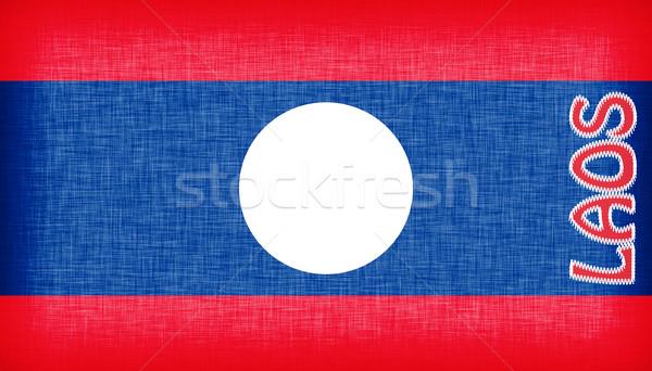 Vlag Laos brieven textuur brief Stockfoto © michaklootwijk