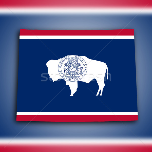 Stockfoto: Kaart · Wyoming · land · schaduw · Schotland · grond