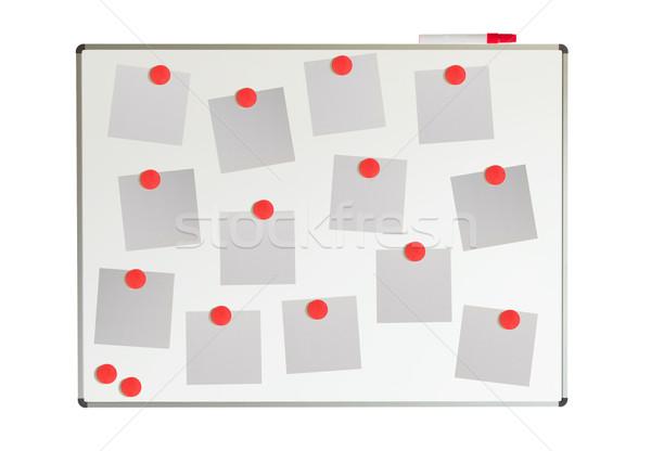 Tábla papírok mágnesek izolált fehér üzlet Stock fotó © michaklootwijk