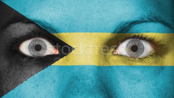 Stockfoto: Ogen · vlag · geschilderd · gezicht · Bahamas