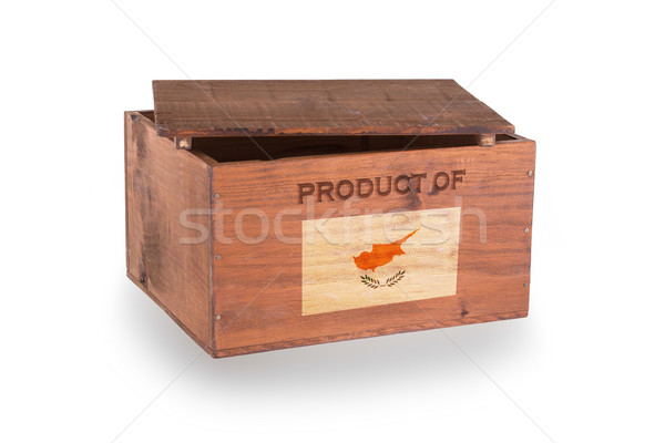 Stock fotó: Fából · készült · láda · izolált · fehér · termék · Ciprus