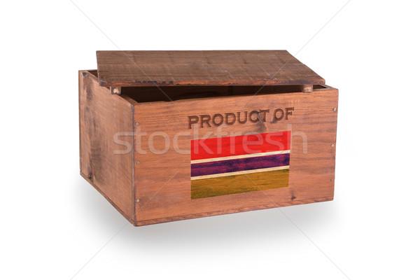 Stock fotó: Fából · készült · láda · izolált · fehér · termék · Gambia