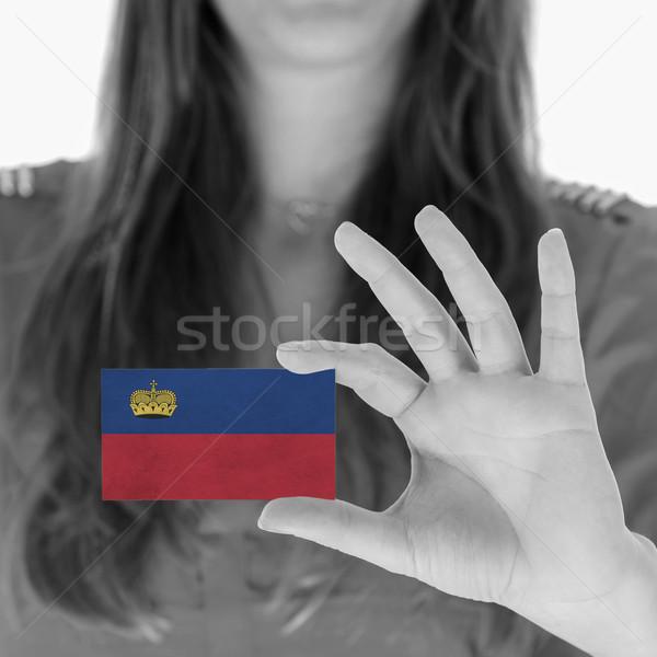 Kobieta wizytówkę czarno białe Liechtenstein przestrzeni Zdjęcia stock © michaklootwijk