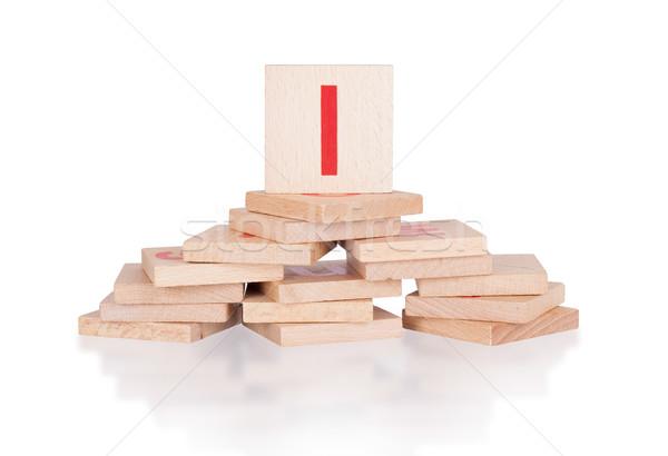 アルファベット 文字l 抽象的な ヴィンテージ 子供 ストックフォト © michaklootwijk