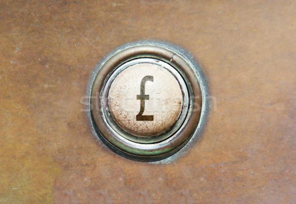 Starych przycisk brytyjski funt grunge obraz Zdjęcia stock © michaklootwijk