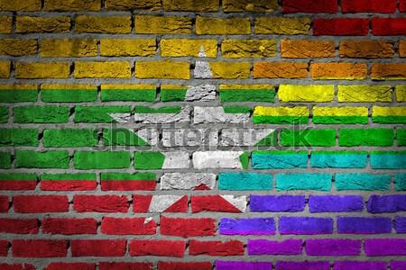 Ciemne murem prawa Congo tekstury banderą Zdjęcia stock © michaklootwijk