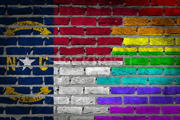 Dark brick wall - LGBT rights - North Carolina Stock photo © michaklootwijk