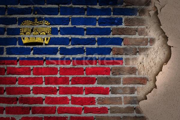Dark brick wall with plaster - Liechtenstein Stock photo © michaklootwijk