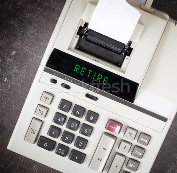Old calculator - retire Stock photo © michaklootwijk