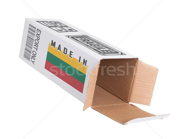 Exportar produto Lituânia papel caixa Foto stock © michaklootwijk