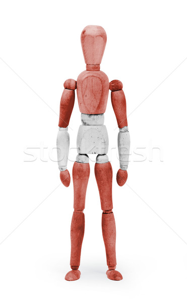 Wood figure mannequin with flag bodypaint - Austria Stock photo © michaklootwijk