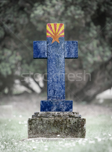 Gravestone in the cemetery - Arizona Stock photo © michaklootwijk