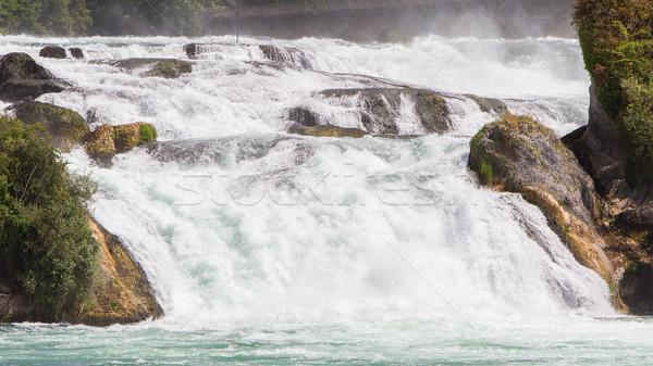 View to the biggest waterfalls of Europe in Schaffhausen, Switze Stock photo © michaklootwijk