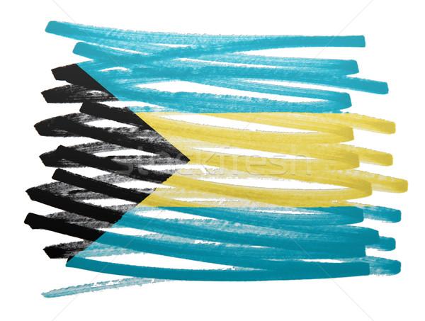Bandeira ilustração Bahamas caneta negócio pintar Foto stock © michaklootwijk