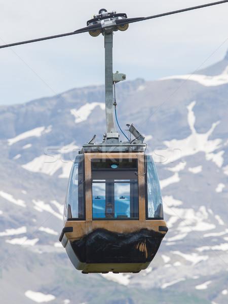 Ski lift kabel kraam auto Zwitserland Stockfoto © michaklootwijk