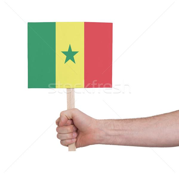 Hand klein kaart vlag Senegal Stockfoto © michaklootwijk