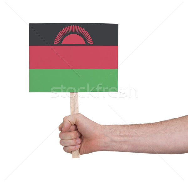 Hand holding small card - Flag of Malawi Stock photo © michaklootwijk