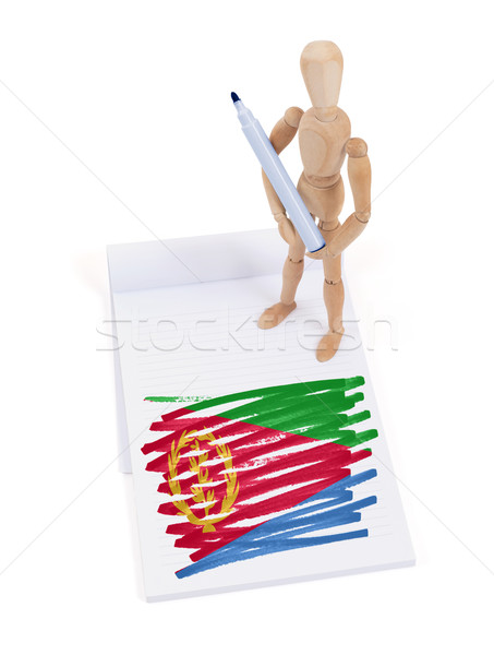 Wooden mannequin made a drawing - Eritrea Stock photo © michaklootwijk