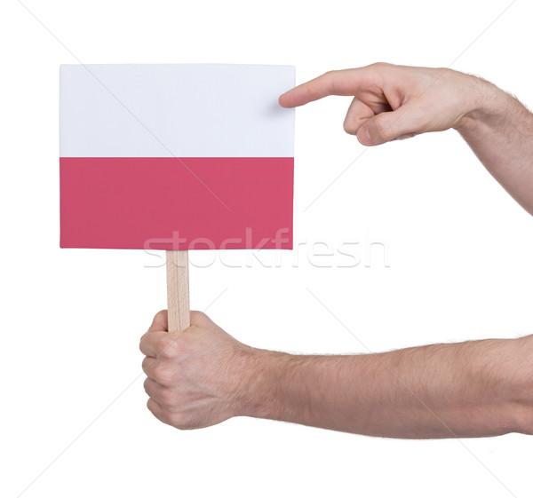 стороны небольшой карт флаг Польша Сток-фото © michaklootwijk