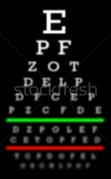 зрение плохо испытание диаграммы письма медицинской Сток-фото © michaklootwijk
