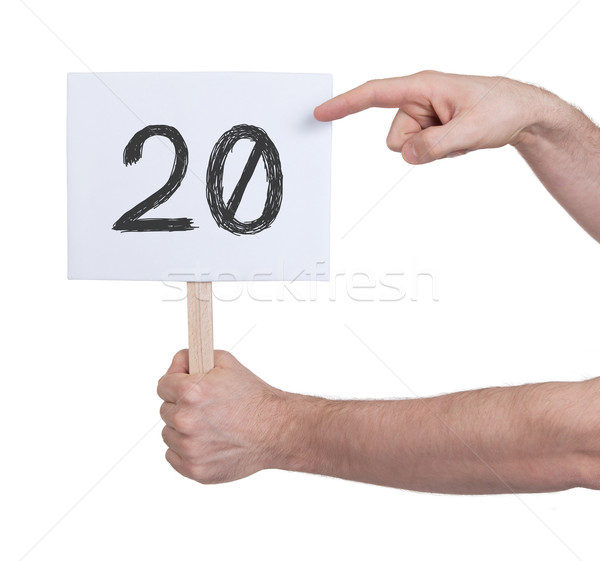 Sign with a number, 20 Stock photo © michaklootwijk