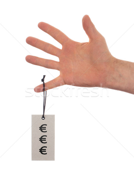 Tag tied with string, price tag Stock photo © michaklootwijk