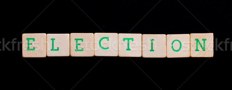 Letters on wooden blocks (election) Stock photo © michaklootwijk