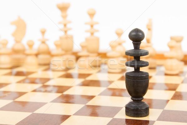 Black chess bishop isolated Stock photo © michaklootwijk