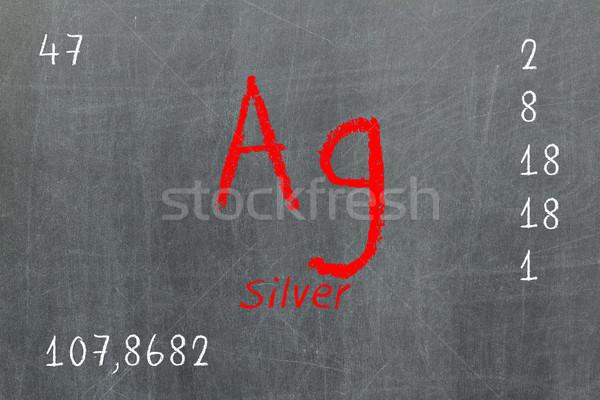 Yalıtılmış tahta gümüş kimya okul Stok fotoğraf © michaklootwijk