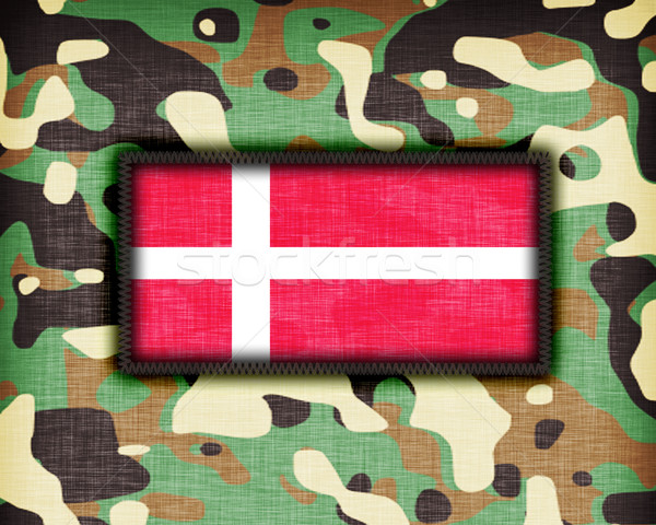 Kamuflaż uniform Dania banderą tekstury streszczenie Zdjęcia stock © michaklootwijk
